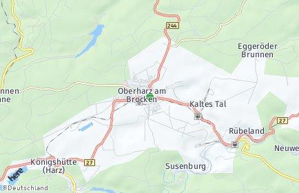 Stadtplan Oberharz am Brocken