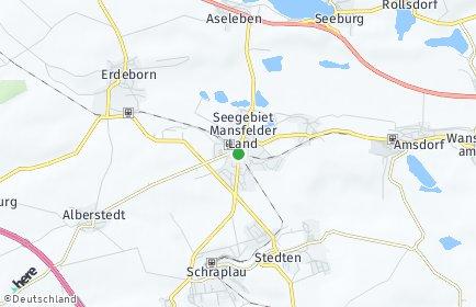 Stadtplan Seegebiet Mansfelder Land