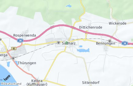 Stadtplan Südharz