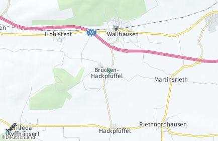 Stadtplan Brücken-Hackpfüffel
