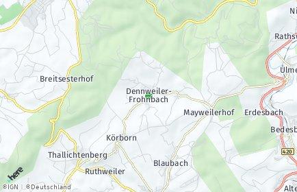 Stadtplan Dennweiler-Frohnbach