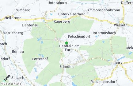 Stadtplan Dentlein am Forst