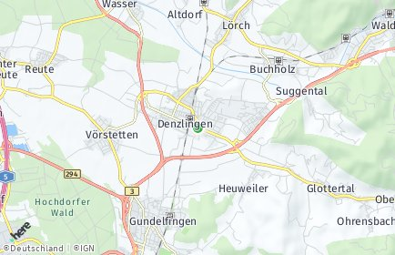 Stadtplan Denzlingen