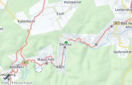 Stadtplan Dernau