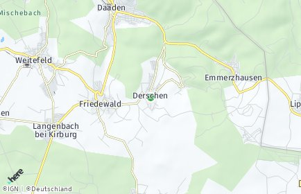 Stadtplan Derschen