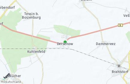 Stadtplan Dersenow