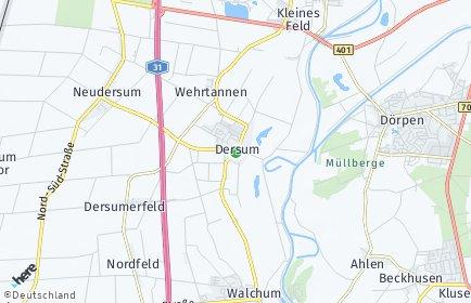 Stadtplan Dersum