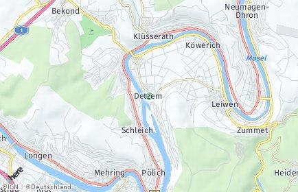 Stadtplan Detzem