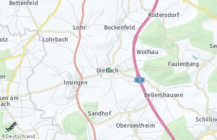 Stadtplan Diebach