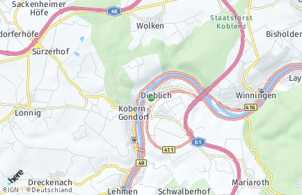 Stadtplan Dieblich