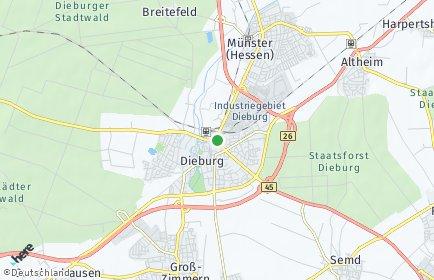 Stadtplan Dieburg