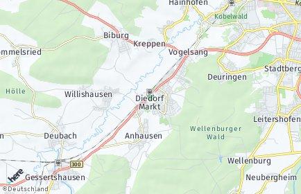 Stadtplan Diedorf (Bayern)