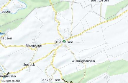 Stadtplan Diemelsee