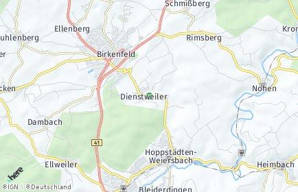Stadtplan Dienstweiler