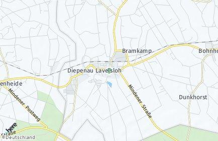 Stadtplan Diepenau
