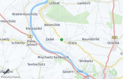 Stadtplan Diera-Zehren