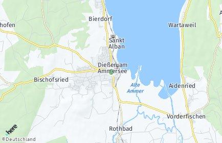 Stadtplan Dießen am Ammersee