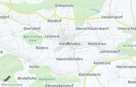 Stadtplan Dietenhofen