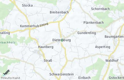 Stadtplan Dietersburg