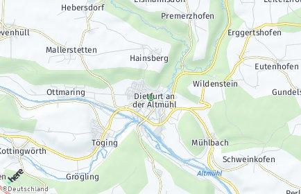 Stadtplan Dietfurt an der Altmühl