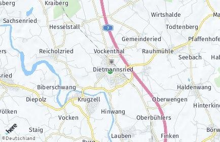 Stadtplan Dietmannsried