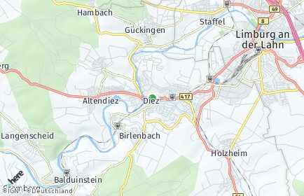 Stadtplan Diez