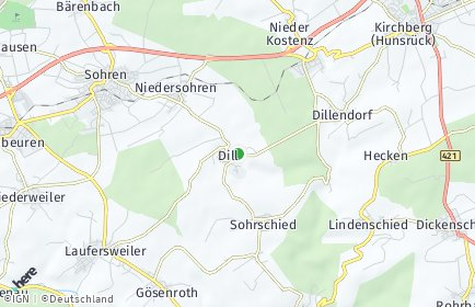 Stadtplan Dill