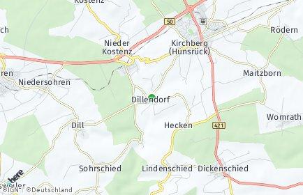 Stadtplan Dillendorf