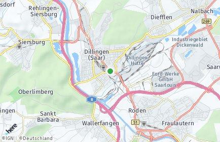 Stadtplan Dillingen/Saar