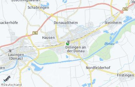 Stadtplan Dillingen an der Donau