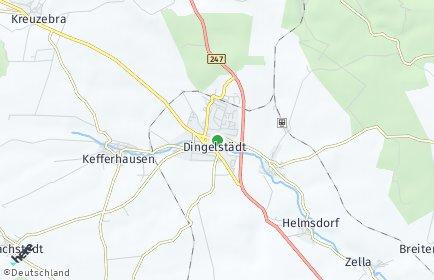 Stadtplan Dingelstädt OT Helmsdorf