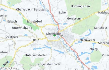 Stadtplan Dinkelsbühl