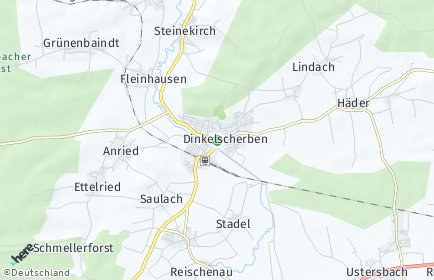 Stadtplan Dinkelscherben