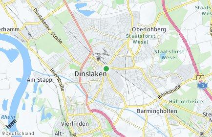 Stadtplan Dinslaken