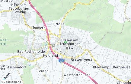 Stadtplan Dissen am Teutoburger Wald