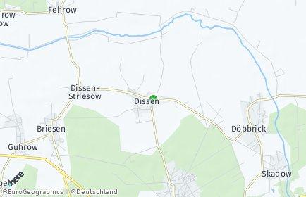 Stadtplan Dissen-Striesow OT Dissen