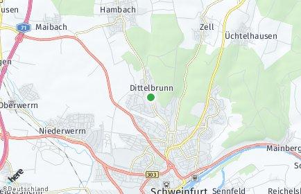 Stadtplan Dittelbrunn