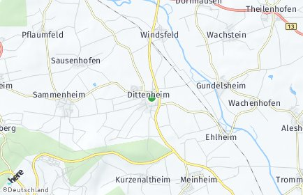 Stadtplan Dittenheim