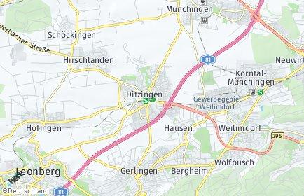 Stadtplan Ditzingen