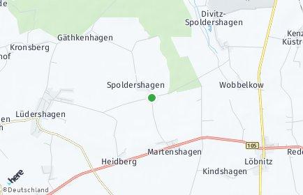 Stadtplan Divitz-Spoldershagen
