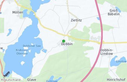 Stadtplan Dobbin-Linstow