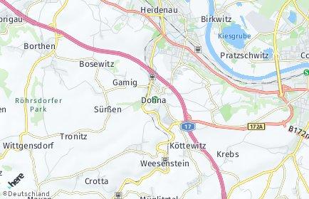 Stadtplan Dohna