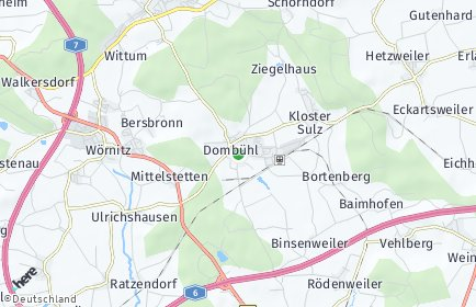 Stadtplan Dombühl