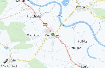 Stadtplan Dommitzsch