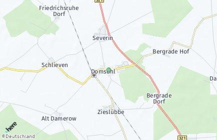 Stadtplan Domsühl