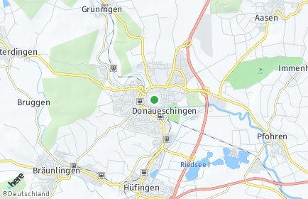 Stadtplan Donaueschingen
