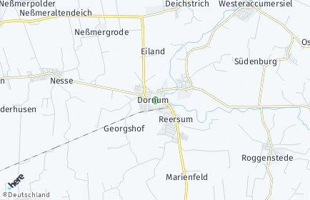 Stadtplan Dornum
