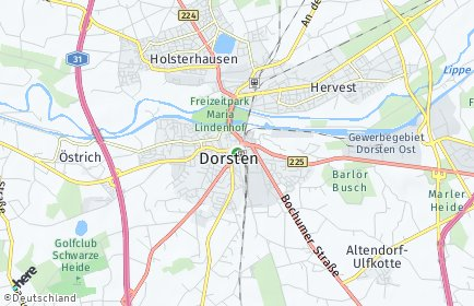 Stadtplan Dorsten OT Deuten