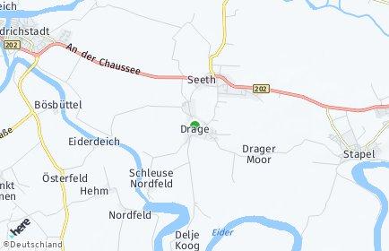 Stadtplan Drage (Nordfriesland)