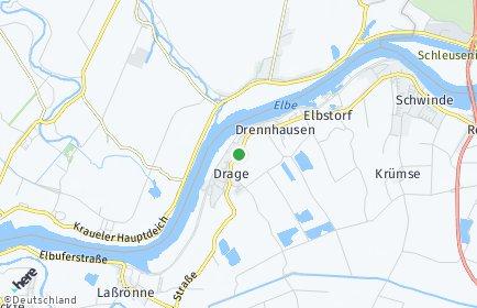 Stadtplan Drage (Elbe) OT Uhlenbusch, Elbe